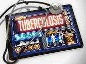 Tuberculosis on the Display of Medical Tablet. — Stock Photo