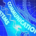 Communication Systems on the Cogwheels. Blueprint Style. — Stock Photo #74330509