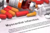 Diagnosis - Myocardial Infarction. Medical Concept. — Stock Photo