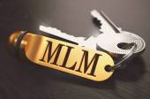 MLM Concept. Keys with Golden Keyring. — Stock Photo