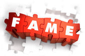 Fame - Text on Red Puzzles. — Stock Photo