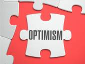 Optimism - Puzzle on the Place of Missing Pieces. — Stock Photo