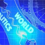 World Politics on the Gears. Blueprint Style. — Stock Photo #75095911