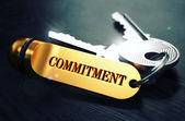 Keys with Word Commitment on Golden Label. — Stock Photo