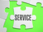 Service - Jigsaw Puzzle with Missing Pieces. — Stock Photo