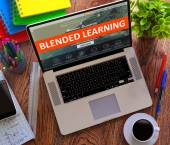 Blended Learning. Online Working Concept. — Stock Photo