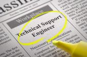 Technical Support Engineer Vacancy in Newspaper. — Stock Photo