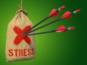 Stress - Arrows Hit in Red Target. — Stock Photo