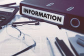 Information on Office Folder. Toned Image. — Stock Photo
