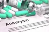Aneurysm Diagnosis. Medical Concept. Composition of Medicaments. — Stock Photo