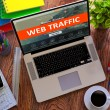 Web Traffic. Office Working Concept. — Stock Photo #76808633