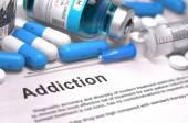 Diagnosis - Addiction. Medical Concept. 3D Render. — Stock Photo