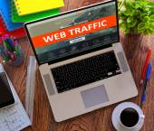 Web Traffic. Office Working Concept. — 图库照片