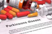 Diagnosis - Parkinsons Disease. Medical Concept. — Stock Photo