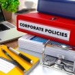 Red Ring Binder with Inscription Corporate Policies. — Stock Photo #78073754