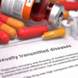 Sexually Transmitted Diseases- Medical Concept. — Stock Photo #78074328