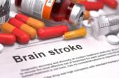 Diagnosis - Brain Stroke. Medical Concept. — Stock Photo
