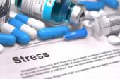Stress Diagnosis. Medical Concept. Composition of Medicaments. — Stock Photo