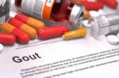 Diagnosis - Gout. Medical Concept. — Stock Photo
