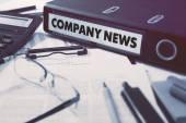 Company News on Office Folder. Toned Image. — Stock Photo