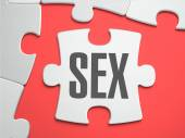 Sex - Puzzle on the Place of Missing Pieces. — Stock Photo