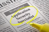 Application Security Specialist Vacancy in Newspaper. — Stock Photo