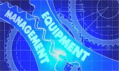 Equipment Management on the Gears. Blueprint Style. — Stock Photo