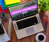 Sales Growth. Online Working Concept. — Stock Photo