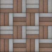 Gray and Brown Rectangles Randomly Laid Weave. — Stock Photo