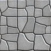 Gray Figured Paving Slabs of Different Value which Imitates Natural Stone. — Stock Photo