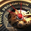 Value Proposition on Black-Golden Watch Face. — Stock Photo #81746174