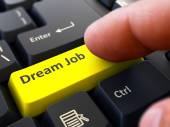 Dream Job - Concept on Yellow Keyboard Button. — Stock Photo