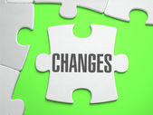 Change - Jigsaw Puzzle with Missing Pieces. — Stock Photo