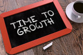 Time to Growth Concept Hand Drawn on Chalkboard. — Stock Photo