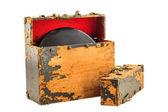 Old Record Box — ストック写真