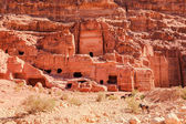 Tombs at the Lost City of Petra — Stock Photo