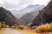 Armenian road view in autumn — Stock Photo