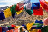 Aerial View of Shanti Stupa — Stock Photo