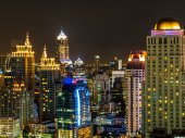 Night in Bangkok Thailand — Stock Photo