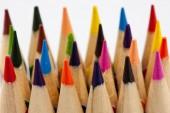 Pionowe wielobarwny ołówki — Zdjęcie stockowe