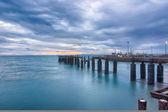 Seascape with port — Fotografia Stock