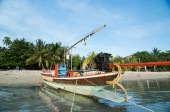 Fisherman boat at the beach — Stock Photo