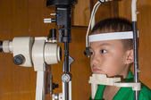 Ophthalmic eye examination — Stock Photo
