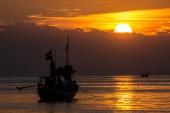 Gün batımında deniz manzarası — Stok fotoğraf