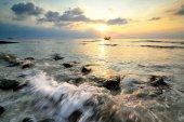 Sluneční paprsky krajina — Stock fotografie