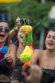 Water festival Songkran in Thailand — Stock Photo