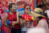 Songkran  water festival — Stockfoto