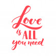 Постер, плакат: Love is all you need