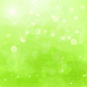 Abstract green background with watercolor splashes and swashes — Stok Vektör