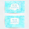 Set of two creative business card templates with artistic vector design. Blue water background with light bokehs. — Stock Vector #58816453